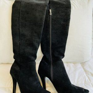 Point Toe Over The Knee Stiletto Boots